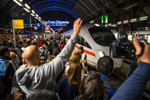 """Train of Hope, Frankfurt, Germany"" by Stephan Dinges is licensed under CC BY-NC 2.0"